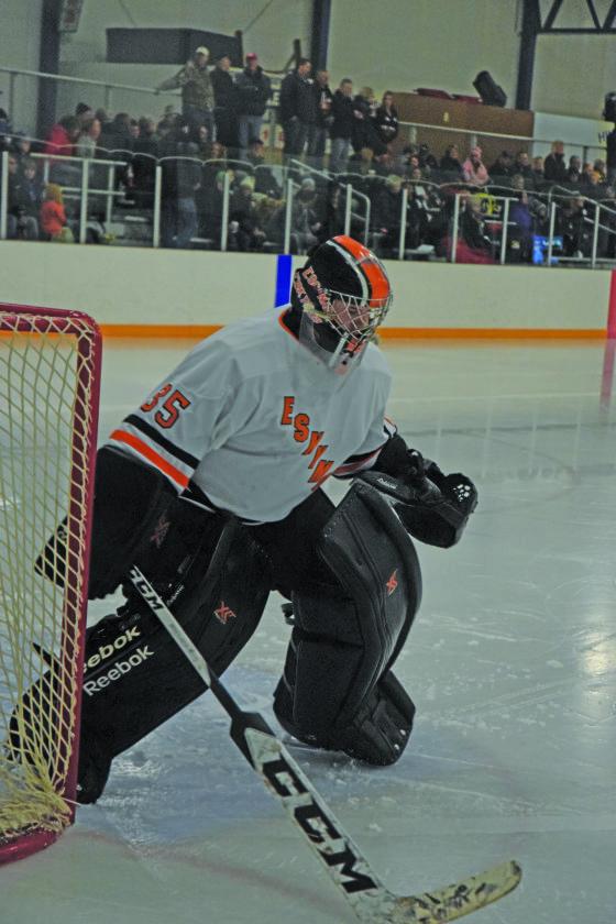 Mike Mattson | Daily Press Brodie Goddard returns for his senior season to lead the Escanaba hockey team in goal.