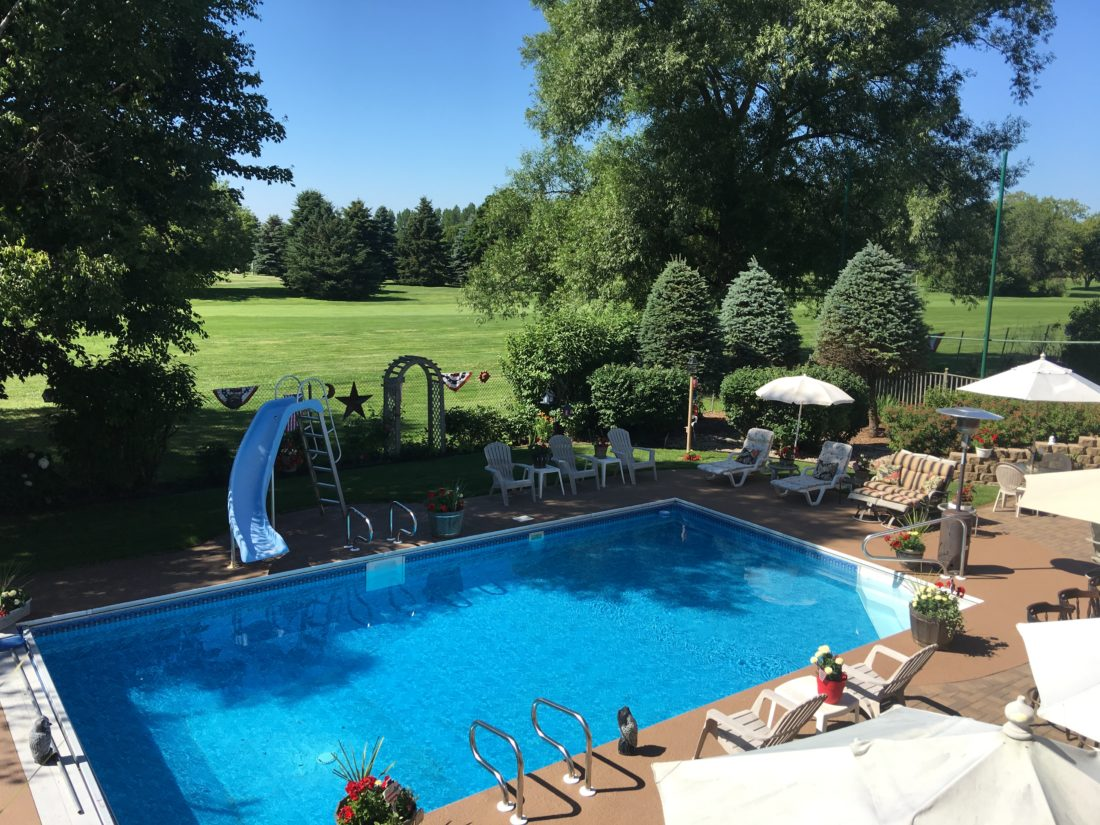 Courtesy photos Above, the in-ground pool provides for a relaxing way to enjoy hot summer days.