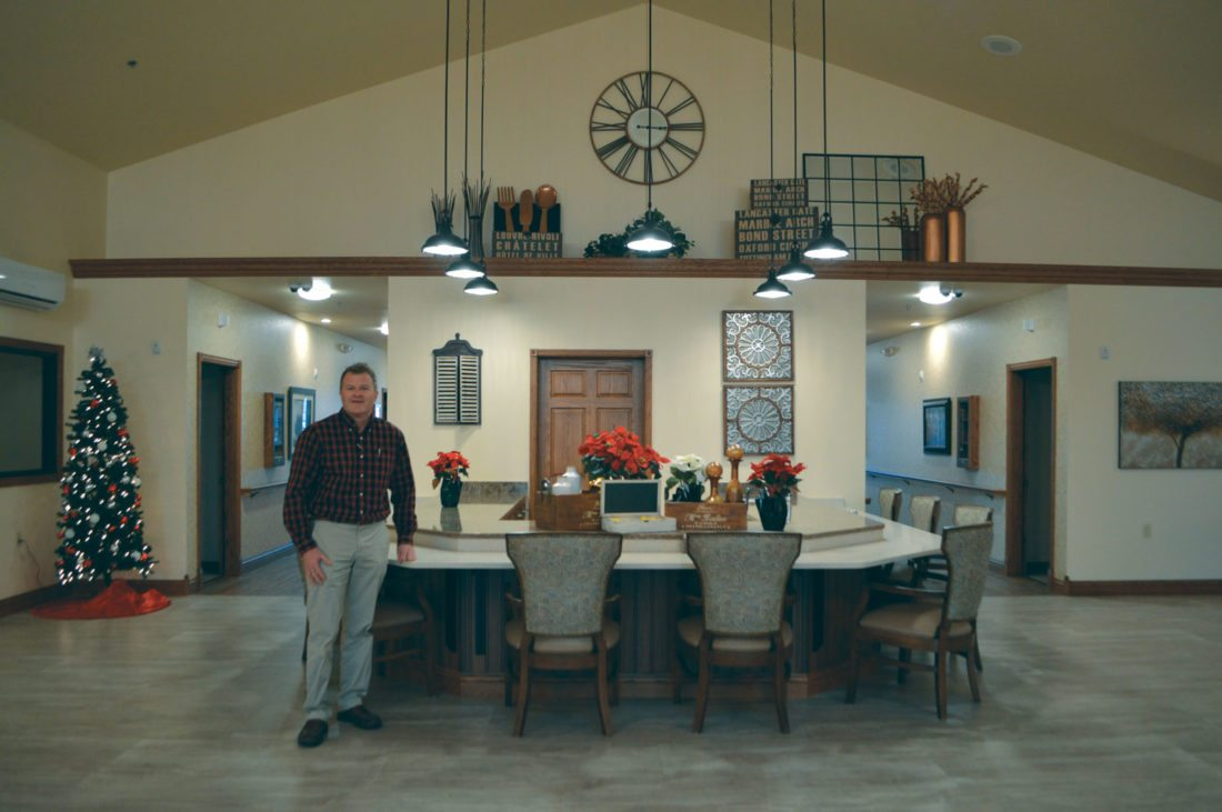 Jordan Beck   Daily Press Lakeview Assisted Living Owner and Administrator Daryl Miron stands in the great room of his assisted living facility's new memory care unit Tuesday. This unit is part of a 26,000-square-foot expansion to Lakeview.