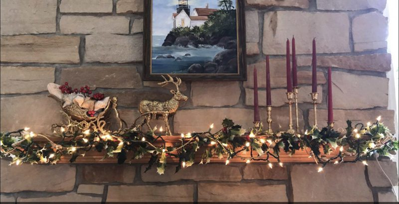 Haley Gustafson | Daily Press The mantel at the Fouts home, located at 1037 South 30th Street. The home was featured on the AAUW Homes for the Holidays tour on Sunday, Dec. 10.