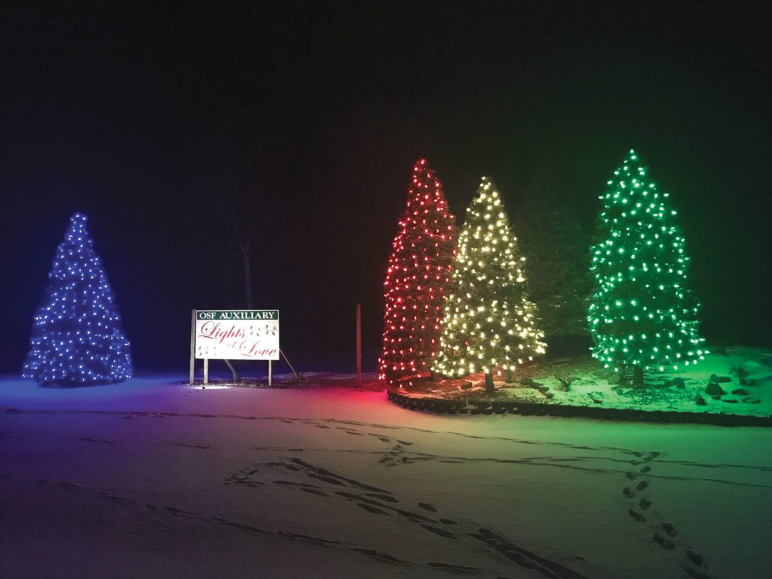 Haley Gustafson | Daily Press Trees Decorated With The OSF St. Francis  Auxiliaryu0027s Lights Of Love Are Shown Thursday Evening. The Trees, Located  Along ...