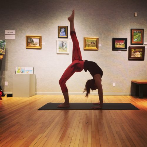 Bonifas courtesy photo Heather Bruss holds an Ashtanga Yoga pose.