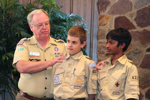 Courtesy photo  Two Boy Scouts from Troop 411.