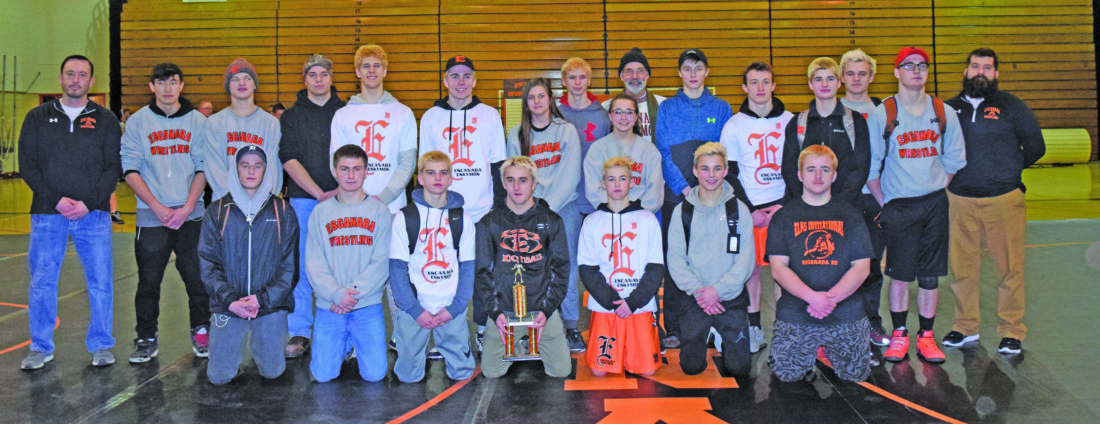 Mike Mattson | Daily Press The Escanaba wrestling team captured the Escanaba Elks Invitational title Saturday at Escanaba High School. The Eskymos totaled 224.5 points for first place, followed by second-place Grayling 190, third-place Westwood 167 and fourth-place St. Ignace 158. For more more results, story and photos, see Monday's Daily Press.