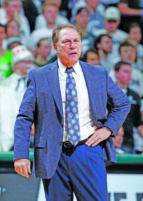 AP photo Michigan State coach Tom Izzo, shown in Wednesday's 76-72 overtime win against Rutgers, will lead the Spartans against rival Michigan Saturday.