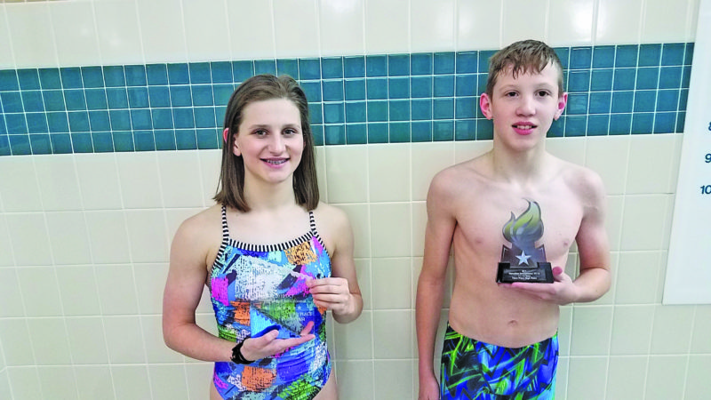 Courtesy photo Anna Rouleau, left, and Nate Lanaville excelled at an invitational in Sturgeon Bay, Wis., last weekend.