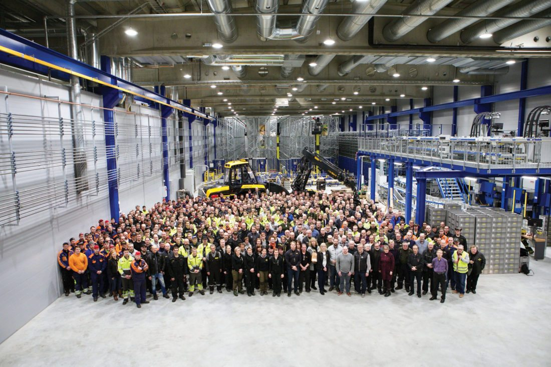 Courtesy photo Ponsse recently celebrated two important milestones. The biggest extension project in the company's history has reached the topping-out phase, and the factory has produced the 13,000th forest machine made in the Vieremä facility in Finland.