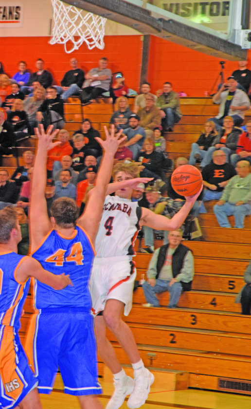 Mike Mattson | Daily Press Escanaba's Ryan Robinette (4) looks to pass the ball as Kingsford's liam Gayan (44) defends.