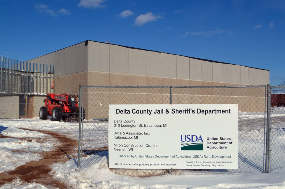 Jordan Beck | Daily Press The new Delta County Correctional Facility, which is currently under construction, is pictured. Since ground was broken in August 2017, significant progress has been made towards completion.