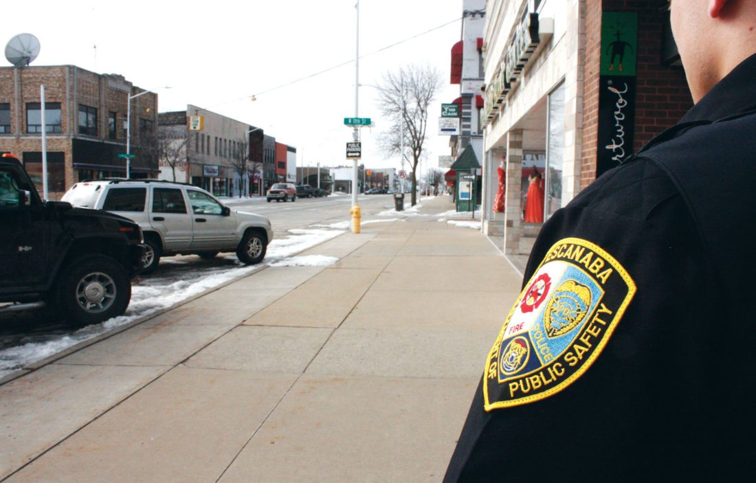 Jenny Lancour | Daily Press The Escanaba Downtown Development Authority will be reinstating its downtown police patrol this summer when an Escanaba Public Safety officer will be assigned hours during the week to serve businesses and the public by monitoring main street.