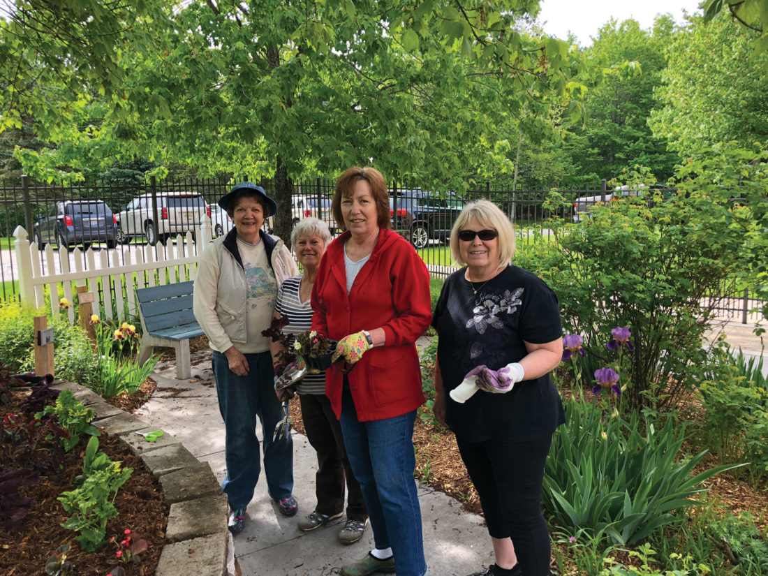 ... Master Gardeners Association, And OSF St. Francis Women In Philanthropy  Recently Took Part In The Seventh Annual Serenity Garden Spring Planting.