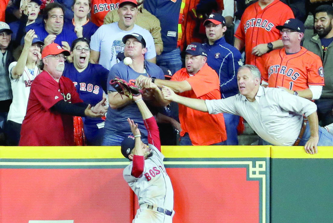 Commentator falls off chair as Boston Red Sox claim dramatic play-off win
