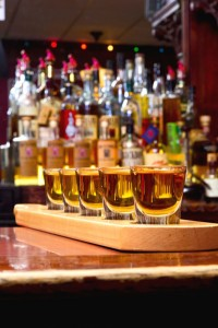 Trion Tavern offers a Bourbon Flight for connoisseurs and the adventurous.