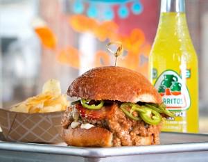 Bravas' PB Burger, photography by Neal Bruns