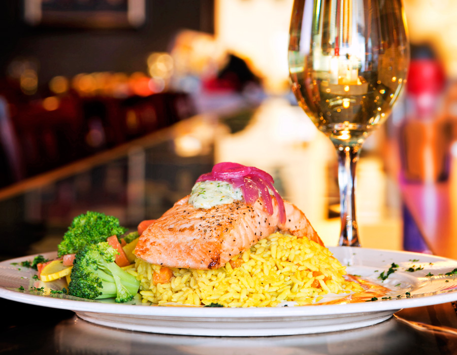 Chop's Cedar Plank Salmon, photography by Neal Bruns