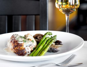 Main Street Bistro's stuffed chicken breast, photography by Neal Bruns