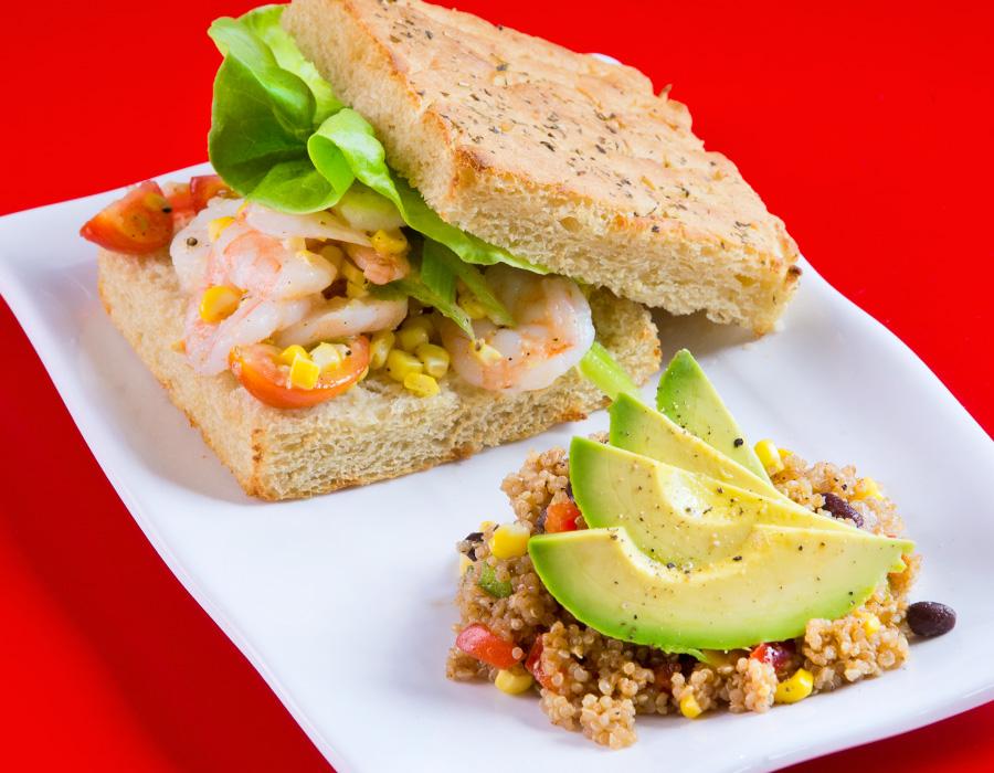 Mockingbird Kitchens' Shrimp Salad Sandwich, photography by Neal Bruns