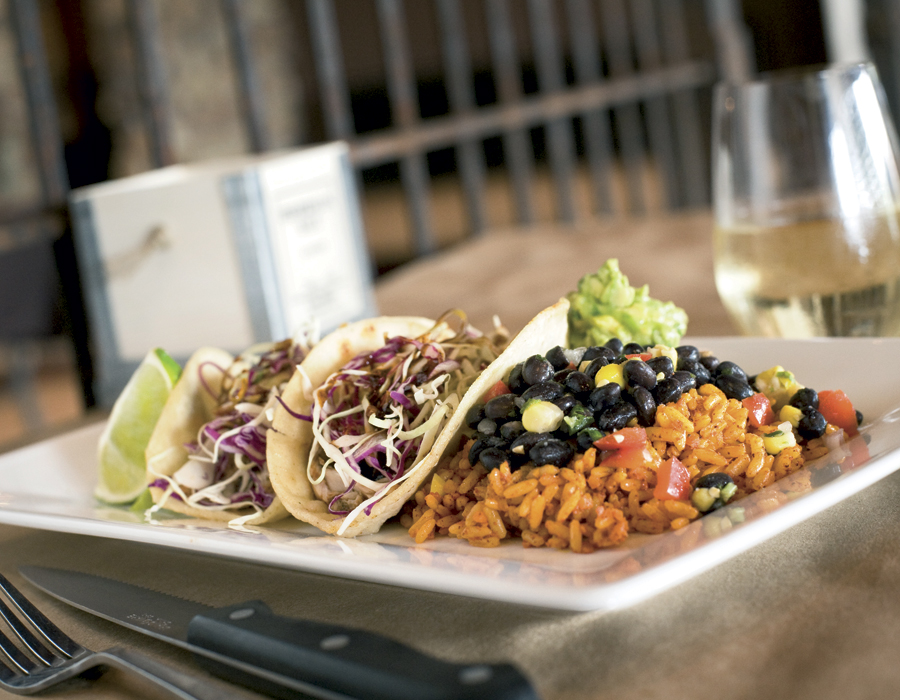 Mahi mahi fish tacos from Catablu Grill. Photography by Neal Bruns