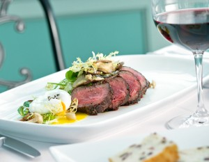 Wagyu Sirloin Steak Salad from Joseph Decuis. Photography by Neal Bruns