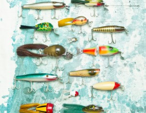 Lure collection, photography by Neal Bruns