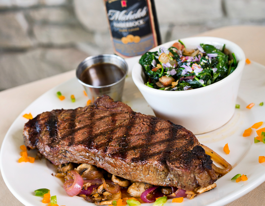 New York Strip Steak, with house-made Worchestershire sauce, photography by Neal Bruns