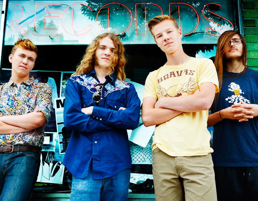 From left: Ben Tarr, Atticus Sorrell, Garrett Spoelhof and Bray Coughlin, photography by Ellie Bogue