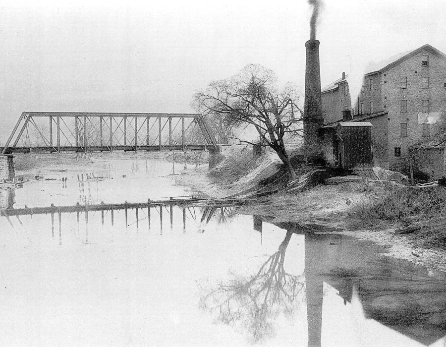 A view of the St. Marys River from the West Main Street bridge in 1889, photo courtesy of the Allen County Public Library Digital Collection
