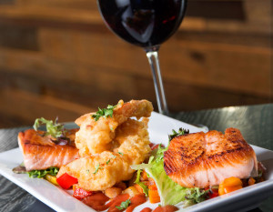 Hoppy Gnome's Salmon & Shrimp Tapas, photography by Neal Bruns
