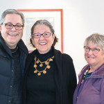 """Crestwoods Gallery hosted """"90 Years Young"""" Feb. 7 celebrating artists Betty Fishman and Sue McCullough. Richard Hoying, Betty Fishman, Sally Felger"""