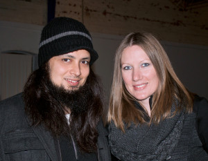 Wunderkammer Company's Fringe Festival Fundraiser was Jan. 31 at the gallery. TJ Ochoa, Amy Echo