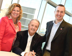 The Common Bond Breakfast, a fundraiser for Erin's House for Grieving Children, was April 28 at the Mirro Center. Shelly Meyer, Bobby Bowden, Mike Nutter