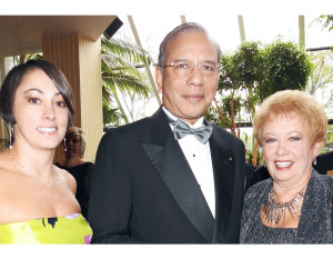 The Rotary Club of Fort Wayne celebrated its 100th anniversary with a Centennial Gala at the Grand Wayne Center Oct. 2. Natalee Fuller, K.R. Ravindran, Carole Fuller