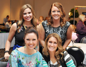 Cancer Services' Design on Life Spring Auction was Feb. 20 at Ceruti's on Innovation Boulevard. Back row: Kristin Craft, Krystal Smith; front row: Rebecca Coldren, Nikki Phillips
