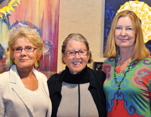 Artlink Members Show was July 22 at the Artlink Contemporary Art Gallery. Karen Thompson, Betty Fishman, Celia Latz