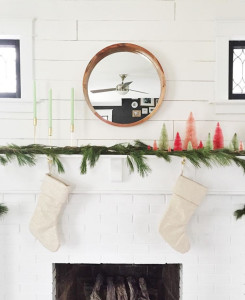 "PHOTO COURTESY OF WHITNEY UTESCH Local design micro-blogger Whitney Utesch foillows a ""less is more"" aesthetic when she decorates her mantle each season — except at Christmas, when she allows herself more latitude to celebrate."