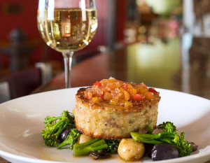 Catablu Grille's Chicken Meatloaf with Smoked Provolone, photography by Neal Bruns