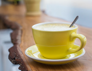 Conjure Coffee's Tumeric Ginger Chai, photography by Neal Bruns