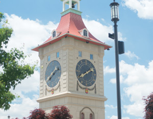 The Muensterberg Plaza and Clock Tower, photography by Neal Bruns