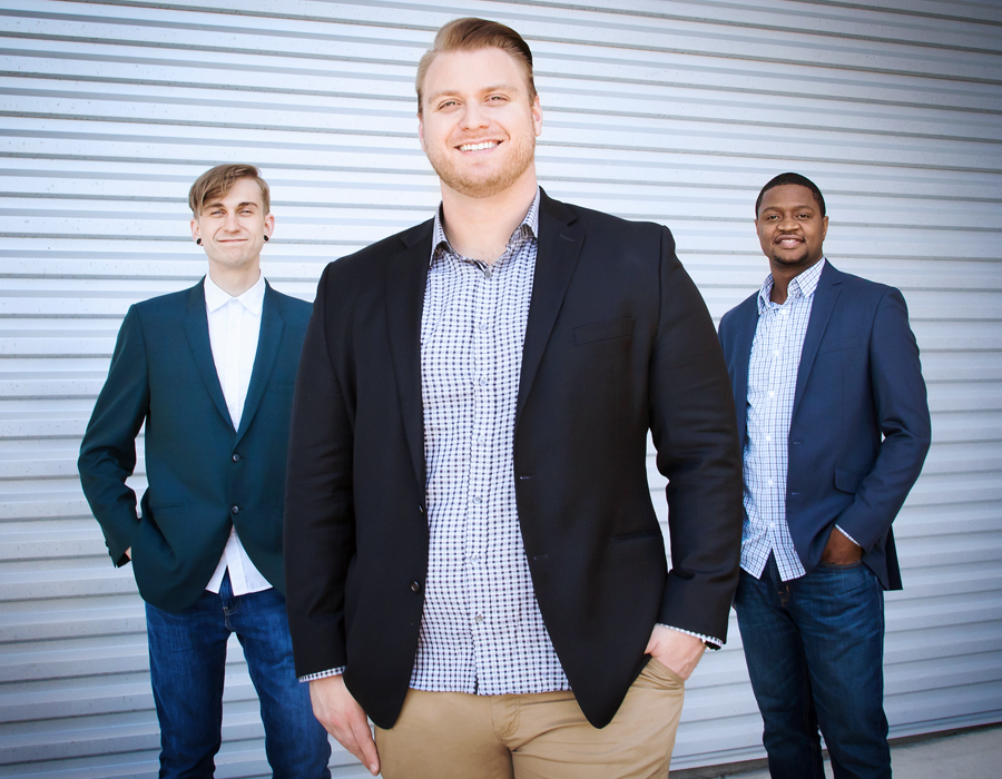 From left: Jon Swain, Jordan Applegate, Bryan Nellems. photography by Natalie Caruso