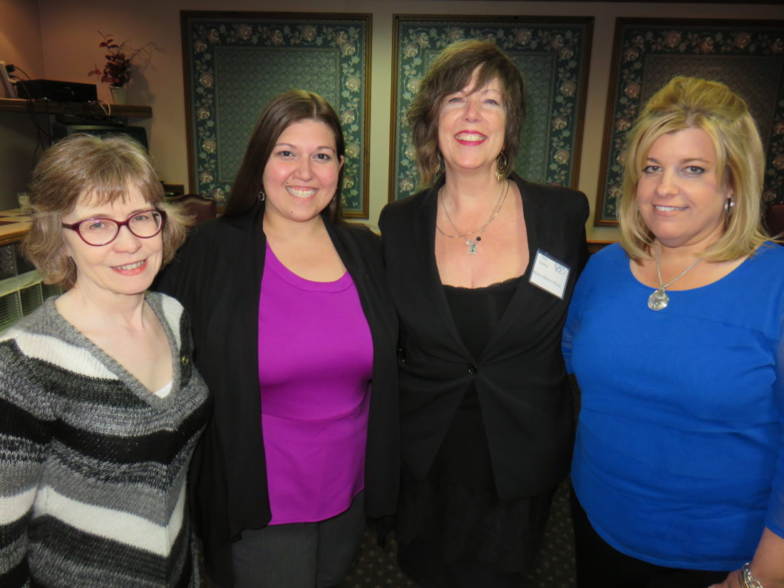 BPW LEADERS — Officers of the Ohio Valley Business and Professional  Women are, from left, Mary Lou Jones, secretary; Sara Lane, president; Marie-Helene Wilson, treasurer; and Jennifer Atchison, vice president. The group's next meeting will be held at 6 p.m. Tuesday at the Schiappa branch of the Public Library of Steubenville and Jefferson County. -- Janice Kiaski