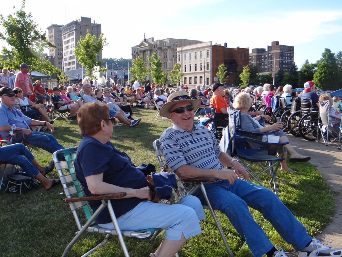 Thursday evenings during the summer in Steubenville mean large crowds at the Berkman Amphitheater at Historic Fort Steuben. This year's installment of the summer concerts kicks off Thursday with the Marcels. — Staff photo
