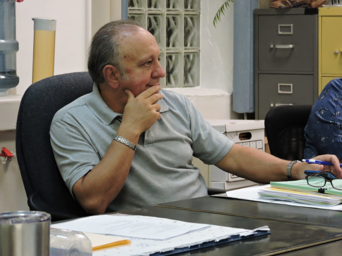 QUESTIONS — Yorkville Mayor Blair Closser listens to discussion during a recent council meeting. -- Contributed
