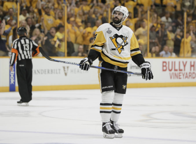 BACK HOME — Chris Kunitz and the Penguins hope to take a 3-2 lead in the series tonight. -- Associated Press