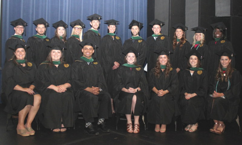 PHYSICIANS ASSISTANTS — West Liberty University held a commencement ceremony June 16 for its first class of physician assistant studies master of science graduates, led by Wheeling's Nathan Musser, the graduate student speaker.