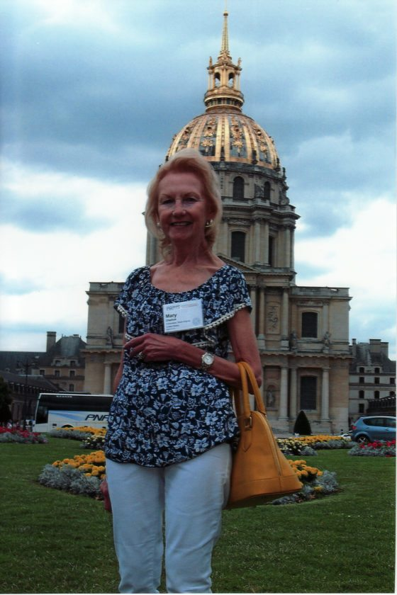 "FAITHFUL ATTENDEE — Representing the Weirton Kiwanis Club, Mary Kay Olashuk attended the 102nd Kiwanis International Convention and the European Federation's 50th held July 13-16 in Paris, France. She is standing in front of the ""Invalies"" Napoleaon's Tomb after which the state capitol in Charleston, W.Va., is designed. -- Contributed"