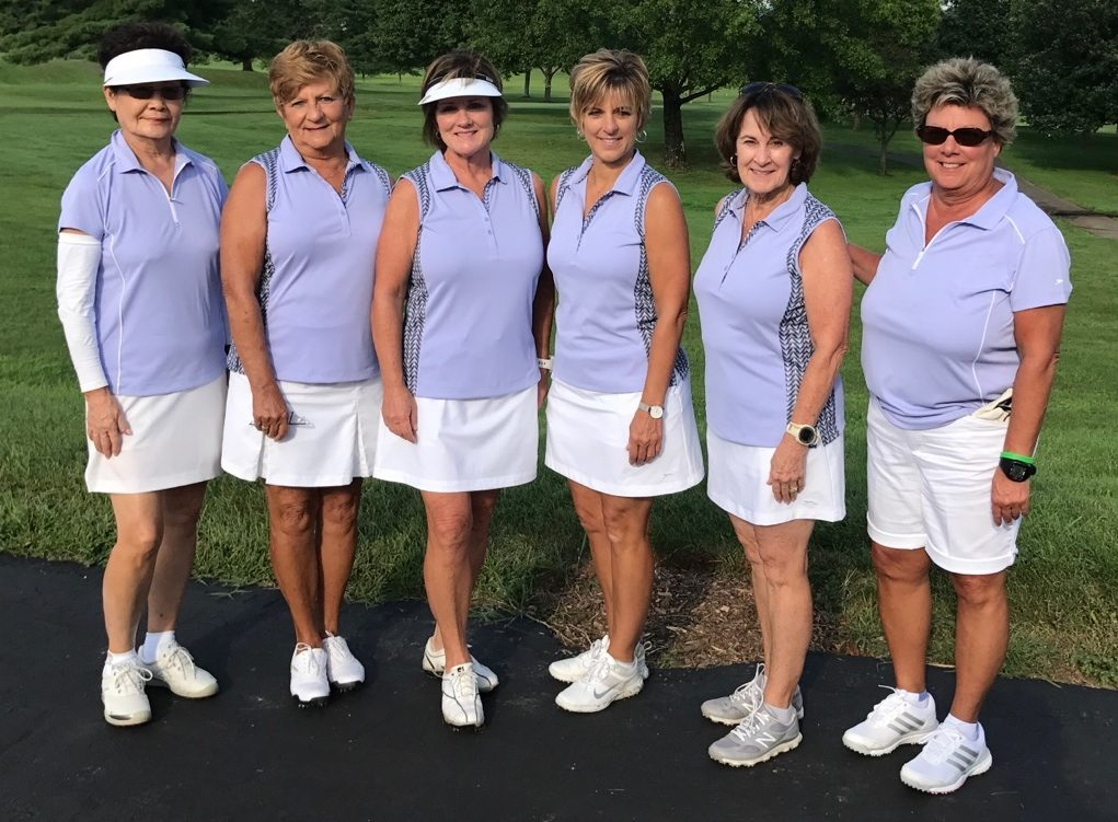 TOURNAMENT PARTICIPANTS — Members of the Steubenville Country Club Women's Golf Association who participated in the East Central tournament of the Ohio Women's Golf Association were, from left, YangJa Koh, Marilyn Kenny, Kim Criss, Pam DiDomenico, Shelle Pentes and Paula Hope. The tournament was played Aug. 4 at the Cambridge Country Club. The Steubenville women placed in the tournament's net division. -- Contributed