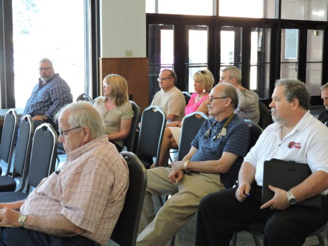 OFFERINGTHOUGHTS — Weirton business representatives and residents were at the Millsop Community Center Wednesday as part of two focus group discussions on economic development and downtown revitalization. The discussions were part of ongoing efforts to update Weirton's Comprehensive Development Plan.