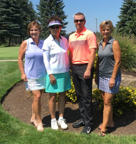 CLUB CHAMPIONSHIP WINNERS — Club championship winners from the Steubenville Country Club Women's Golf Association were, from left, Kim Criss, championship runner-up and first flight winner; YangJa Koh, 2017 club champion; John Denholm, golf professional; and Pam DiDomenico, second flight champion. -- Contributed