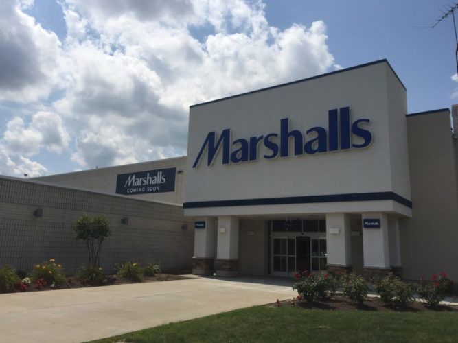 The doors at Marshalls Department Store at the Ohio Valley Mall will open to the public on Sept. 7, according to officials.
