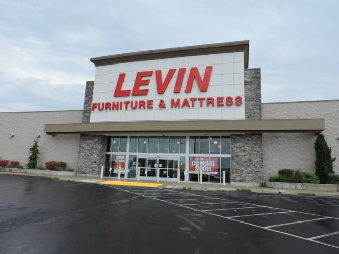 READY TO OPEN —  Levin Furniture and Mattress at the Ohio Valley Mall is getting ready to open its doors to the public in early October.